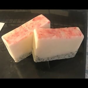 Handmade soap with essential fragrance oils.